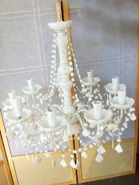 Candíl de acrilico blanco para 9 focos de 55x48cm