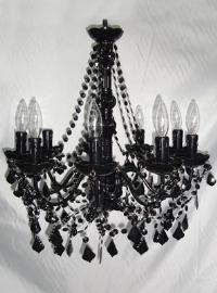 Candíl de acrilico negro para 9 focos de 55x48cm