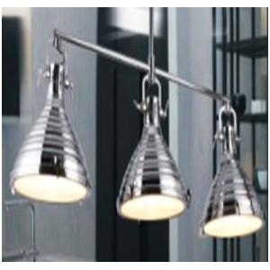 Lámpara de techo con 3 reflectores color bronce antiguo