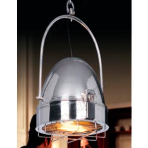 Lámpara de techo estilo reflector de acero inoxidable