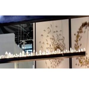 Lámpara de techo de metal diseño cuarzos con luz led de 150cm
