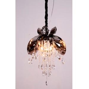 Lámpara de techo diseño moño con colgantes de vidrio de 50x78cm