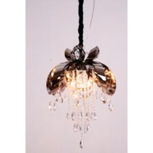 Lámpara de techo  diseño moño con colgantes de vidrio   de 80x100cm