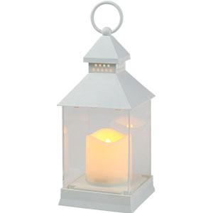 Linterna blanca con vela de luz led de baterias AAA