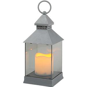 Linterna gris con vela de luz led de baterias AAA