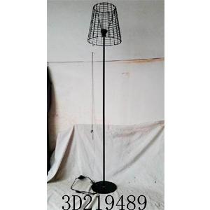 Lámpara de piso de metal con pantalla de malla cilíndrica de 30x30x168cm