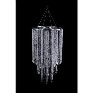 Pantalla con cuentas de acrilico transparente de 3 niveles de 60x113cm