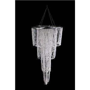 Pantalla con cuentas de acrilico transparente de 4 niveles de 61x122cm