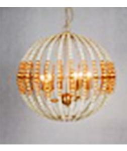 Lámpara de techo diseño esfera de cristal con metal dorada de 65x60cm