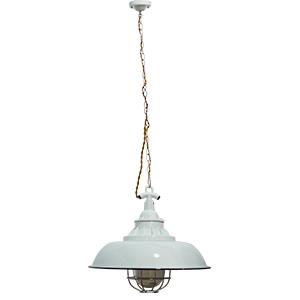 Lámpara de techo blanca diseño cacerola de 110cmx40dm