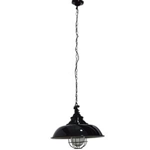 Lámpara de techo negra diseño cacerola de 110cmx40dm
