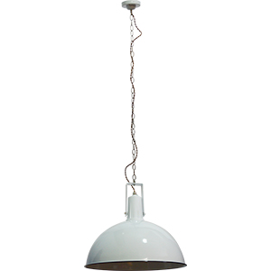 Lámpara de techo blanca diseño cacerola de 110cmx27dm