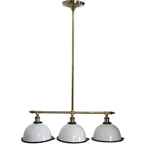 Lámpara de cacerola triple de techo blanca de 110cmx27dm