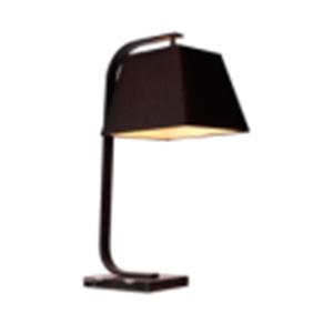 Lámpara de escritorio negra con base de madera de 42x30x69cm