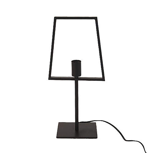 Lámpara de mesa de metal negra diseño silueta de pantalla de 25x14x52cm