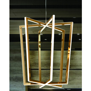 Lámpara de techo moderna dorada de acero de 40x120cm