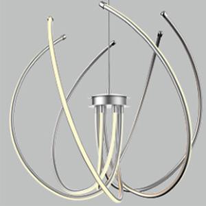 Lámpara de techo moderna cromada con luz led de 47x48x120cm