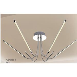 Lámpara de techo moderna cromada con luz led de 99x99x30cm