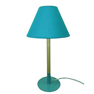 Lámpara de mesa moderna con base y pantalla azul de 25x25x48cm