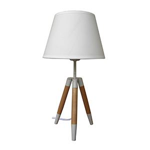 Lámpara de mes diseño tripie con pantalla blanca de 22x22x41cm