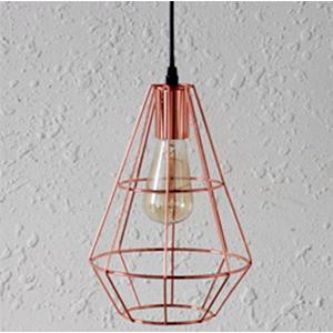 Lámpara de techo diseño varas de metal en color cobre de 20.5x20.5x118cm