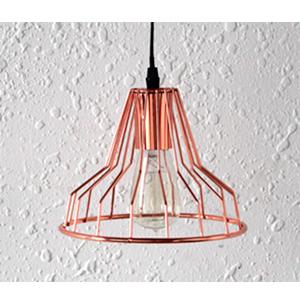 Lámpara de techo diseño varas de metal en color cobre de 36.5x36.5x109