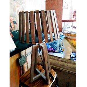 Lampara de mesa rustica de 72x34x59cm