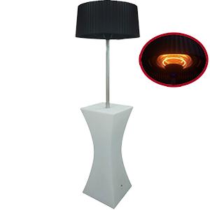 Calentador de patio eléctrico con mesa de led con cambio de colores