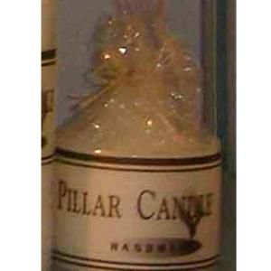 Vela marfil de 200g envuelta en celofán de 7 x 7.5cm