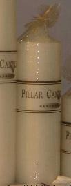 Vela marfil de 695g envuelta en celofán de 7 x 22.5cm