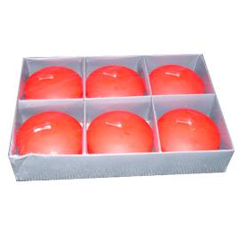Paquete con 6 velas flotantes,  rojo  82gr pieza