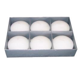 Paquete con 6 velas flotantes blanco , 82gr pieza