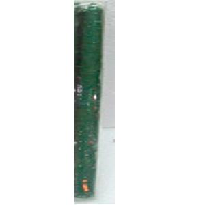 Paquete de 10 velas verdes de 25x2.5cm