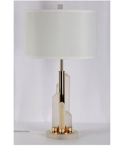 Lámpara de mesa para 1 foco con base de tubos de cristal