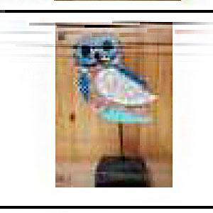 Decoración de Búho a colores en base de madera de 15x8x31cm
