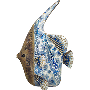 Decoración de pescados a colores de 20x7x30cm
