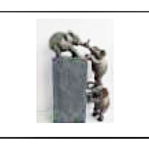 Decoración de 3 elefantes escalando de 27x10x40cm