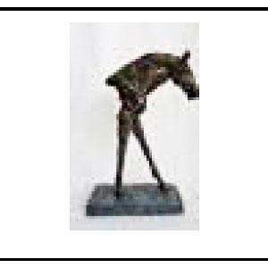 Decoración de cabeza de caballo de 20x8x10cm