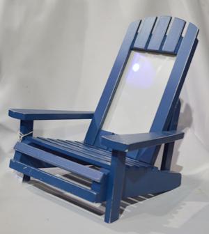 Portarretratos de madera diseño silla de playa azul 12x19.5x25cm