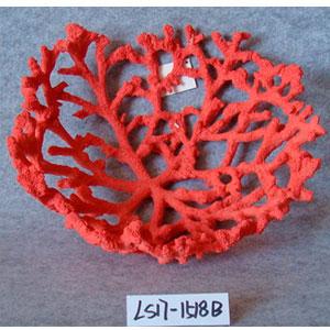 Decoración de coral rojo de 35x35x13cm