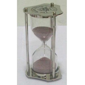 Reloj de arena de metal de 5 minutos de 15 cm