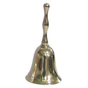 Campana de metal dorada de 5.25x11.5cm