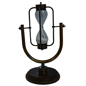 Reloj de arena en base de metal de 26cm