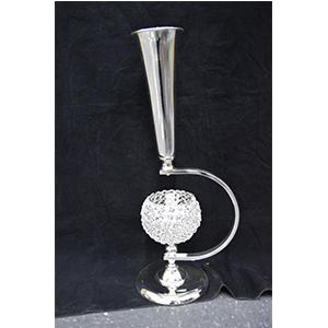 Florero plateado con candelabro de bits transparentes de 24*20*65m