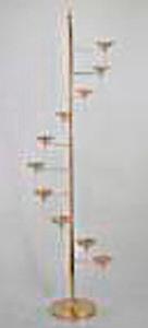 Candelabro plata moderno diseño escalera para 10 T-lights de 50x50x153cm