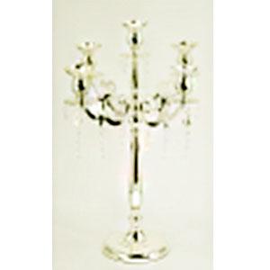 Candelabro para 5 velas de metal dorado diseño clásico de 52x52x74cm