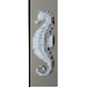 Decoración de hipocampo diseño piedra de 24x80x5.5cm