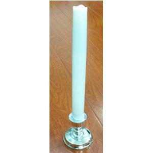 Vela blanca p/baterias AA de 36cm con candelabro