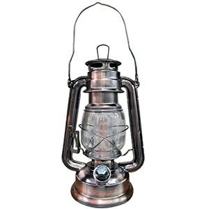 Linterna cobre con luz led (usa baterias D2) de 25x8cm