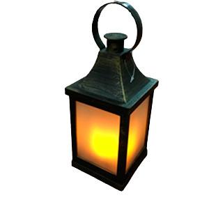 Linterna negra con luz led de 10x22cm